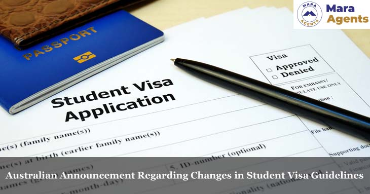 Australian Announcement Regarding Changes in Student Visa Guidelines