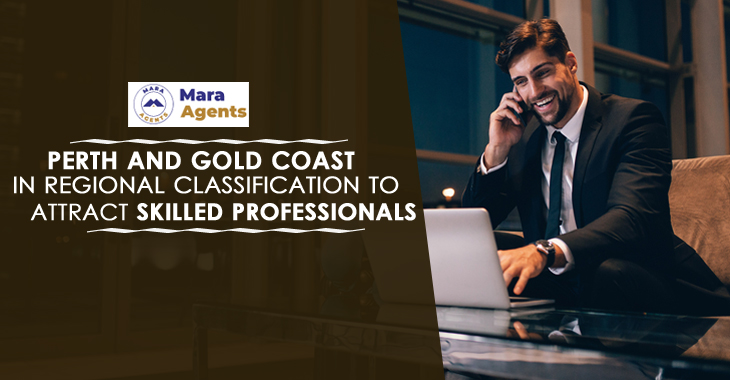 Perth and Gold Coast in Regional Classification to Attract Skilled Professionals